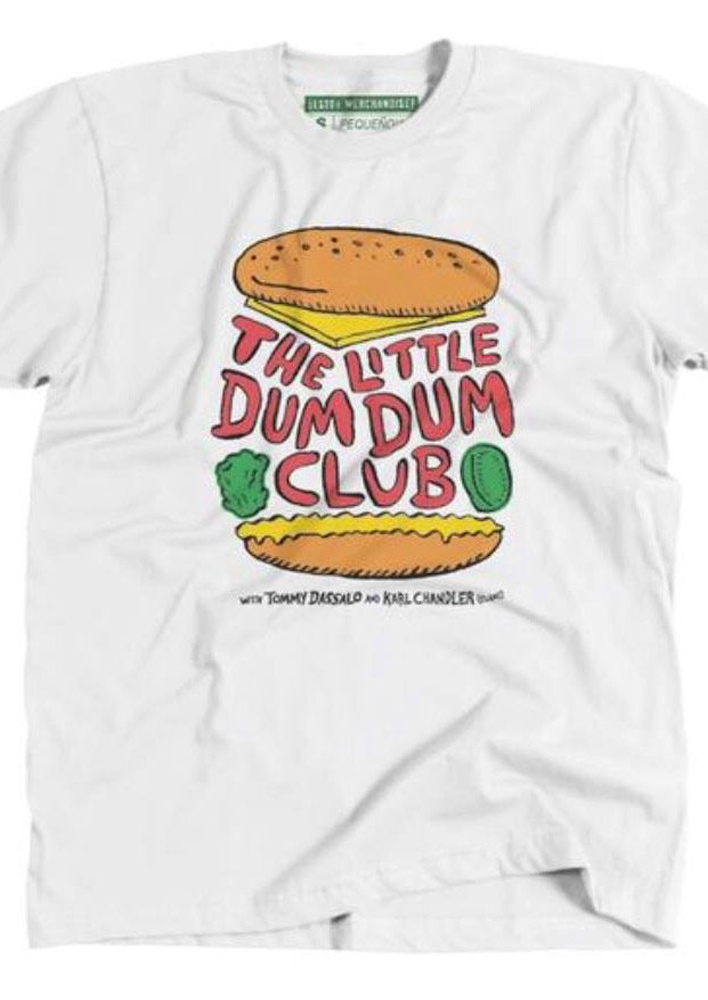 little dum dum club burger logo tshirt